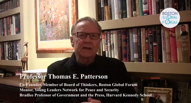 Professor Thomas Patterson talk about Young Leaders Network for Peace and Security