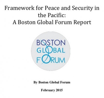 "Boston Global Forum Calls for TPP as Part of its ""Framework for Peace and Security in the Pacific"""