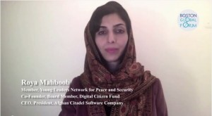 Roya Mahboob: importance of social media in maintaining peace and security