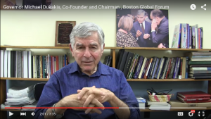 Governor Michael Dukakis's speech in Peace and Innovation conference